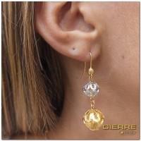 E3129 Double boule earrings