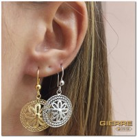 E3177 Round flower earring