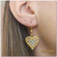E3146 Romantic heart earrings